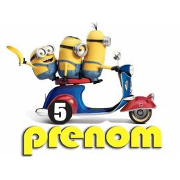 "Custom food print service ""MINION in VESPA"""