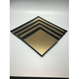 5 square boxes, gold and black 20 x 20 cm