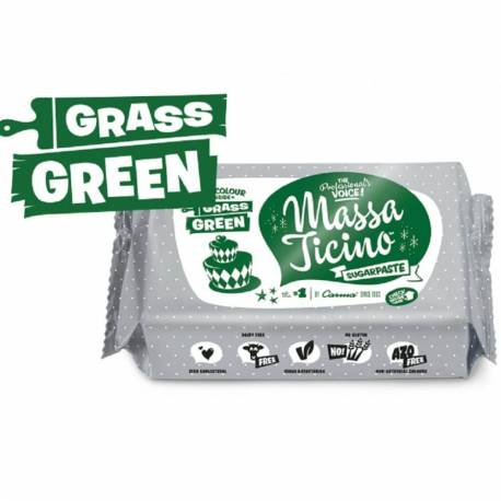 Massa Ticino sugar paste 250g - GREEN