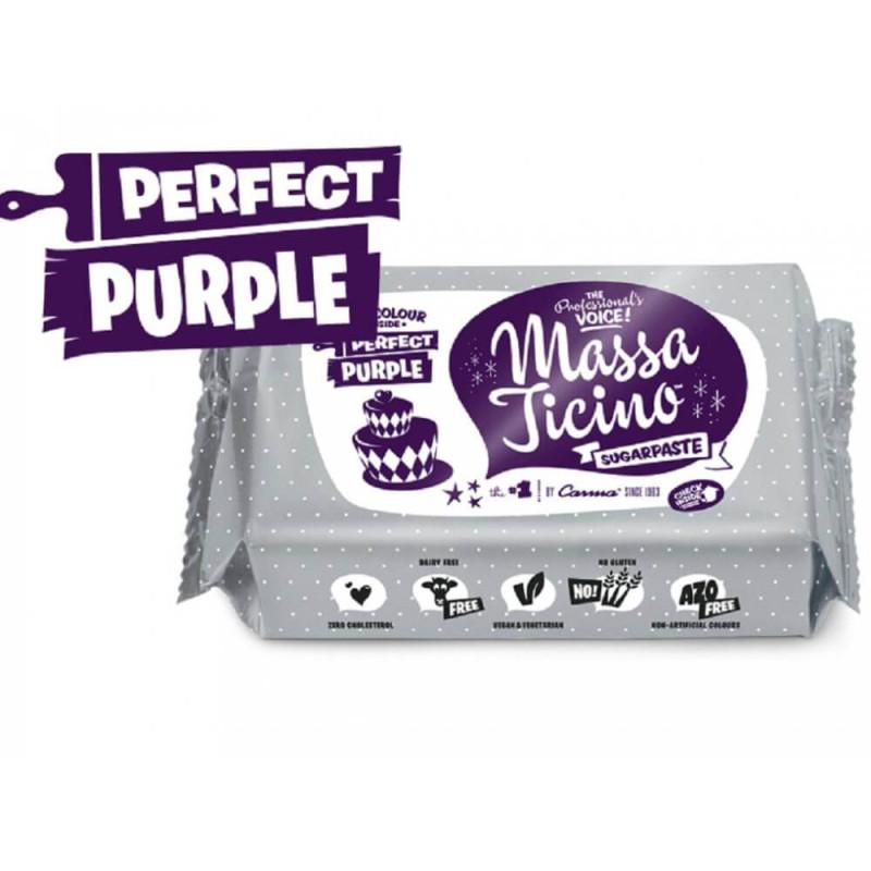 Pâte à sucre Massa Ticino 250g - VIOLET