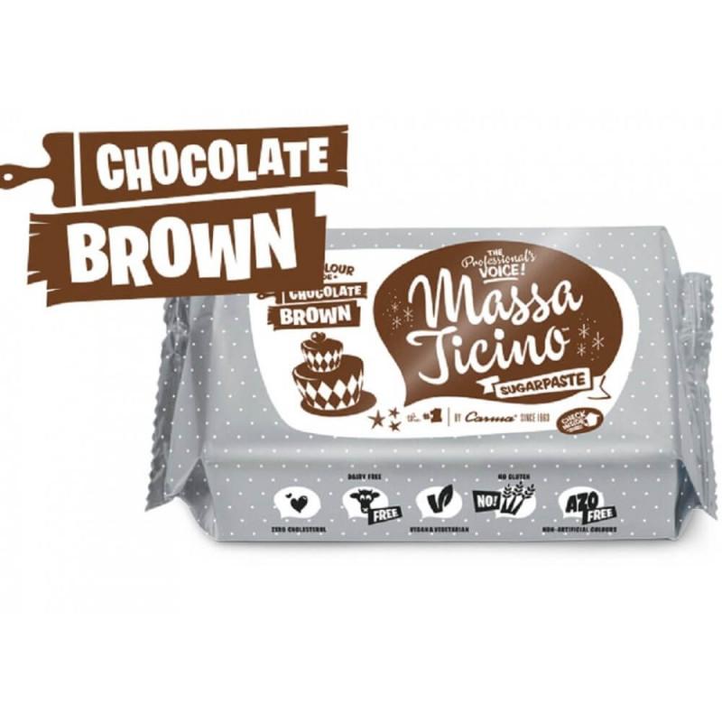 Pâte à sucre Massa Ticino 250g - MARRON