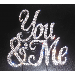 You And Me in rhinestones