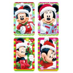 Kit en feuille de sucre Mickey et Minnie de Noel prédécoupé A4