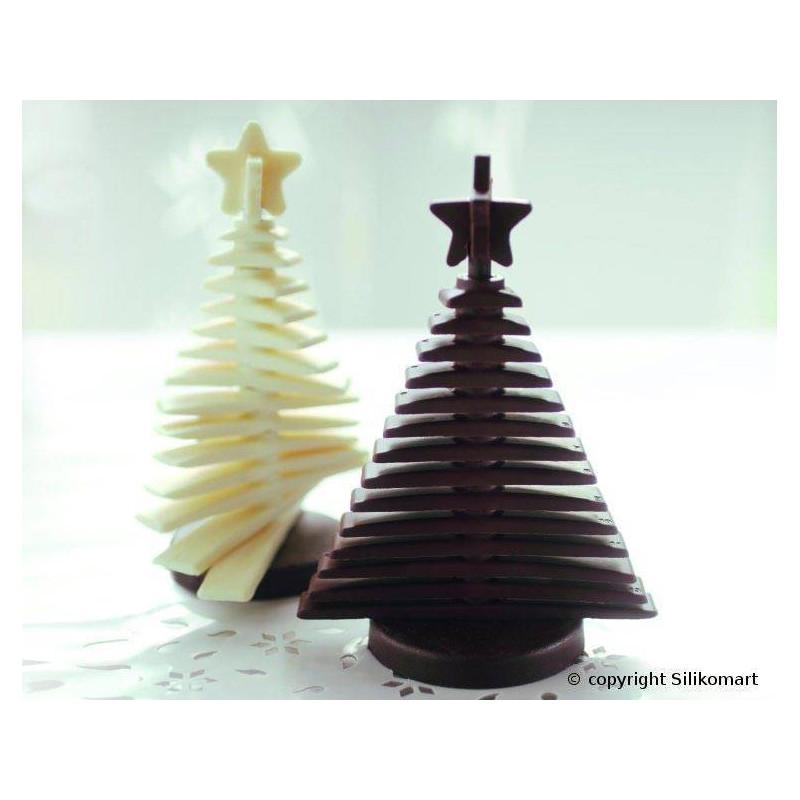 Moule silicone à Chocolat Sapin en 3D SILIKOMART