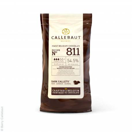 Dark chocolate couverture in Gallets 1kg of Callebaut
