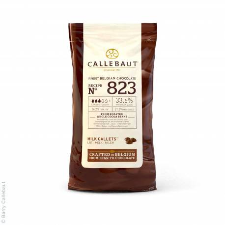 Milk chocolate couverture in Gallets 1kg of Callebaut