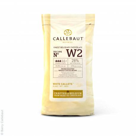 White chocolate couverture in Gallets 1kg of Callebaut