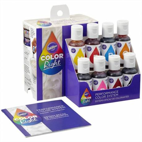Kit de 8 colorants alimentaires Color Right Wilton