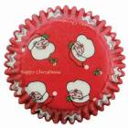 60 Caissettes à cupcake Père-Noël