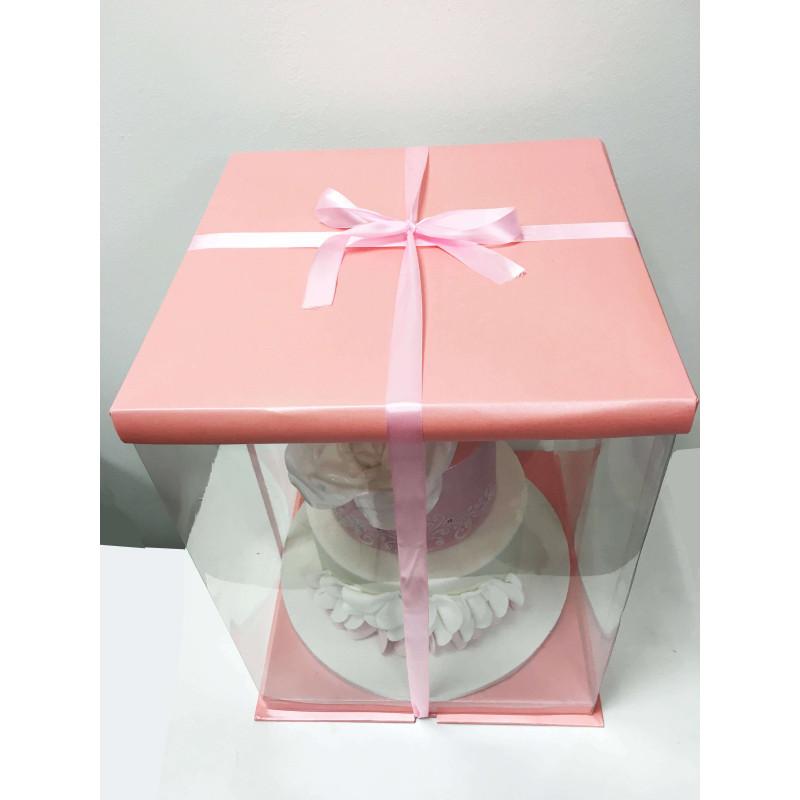 Boite à Gateau Rose Expo Cake Box - 30x30x40cm