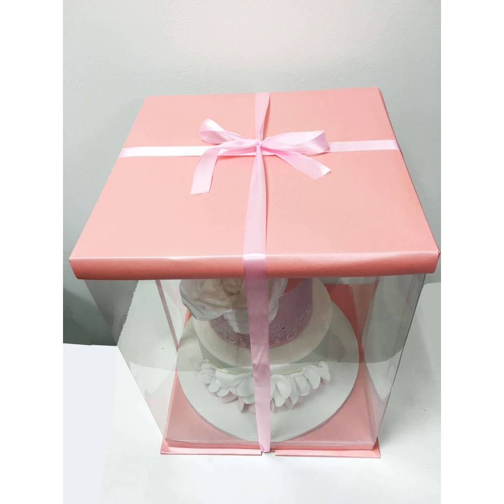 boite gateau expo cake box rose 30x30x40cm cake design. Black Bedroom Furniture Sets. Home Design Ideas