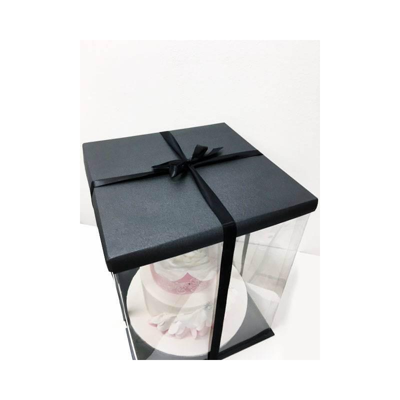 Boite à Gateau Noire Expo Cake Box - 30x30x40cm
