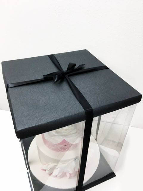 boite gateau expo cake box noire 30x30x40cm cake design. Black Bedroom Furniture Sets. Home Design Ideas