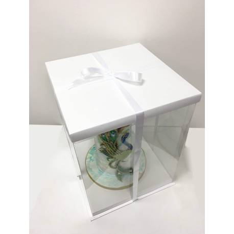 how cut a wedding cake boite 224 gateau expo cake box blanche 30x30x40cm cake design 15362