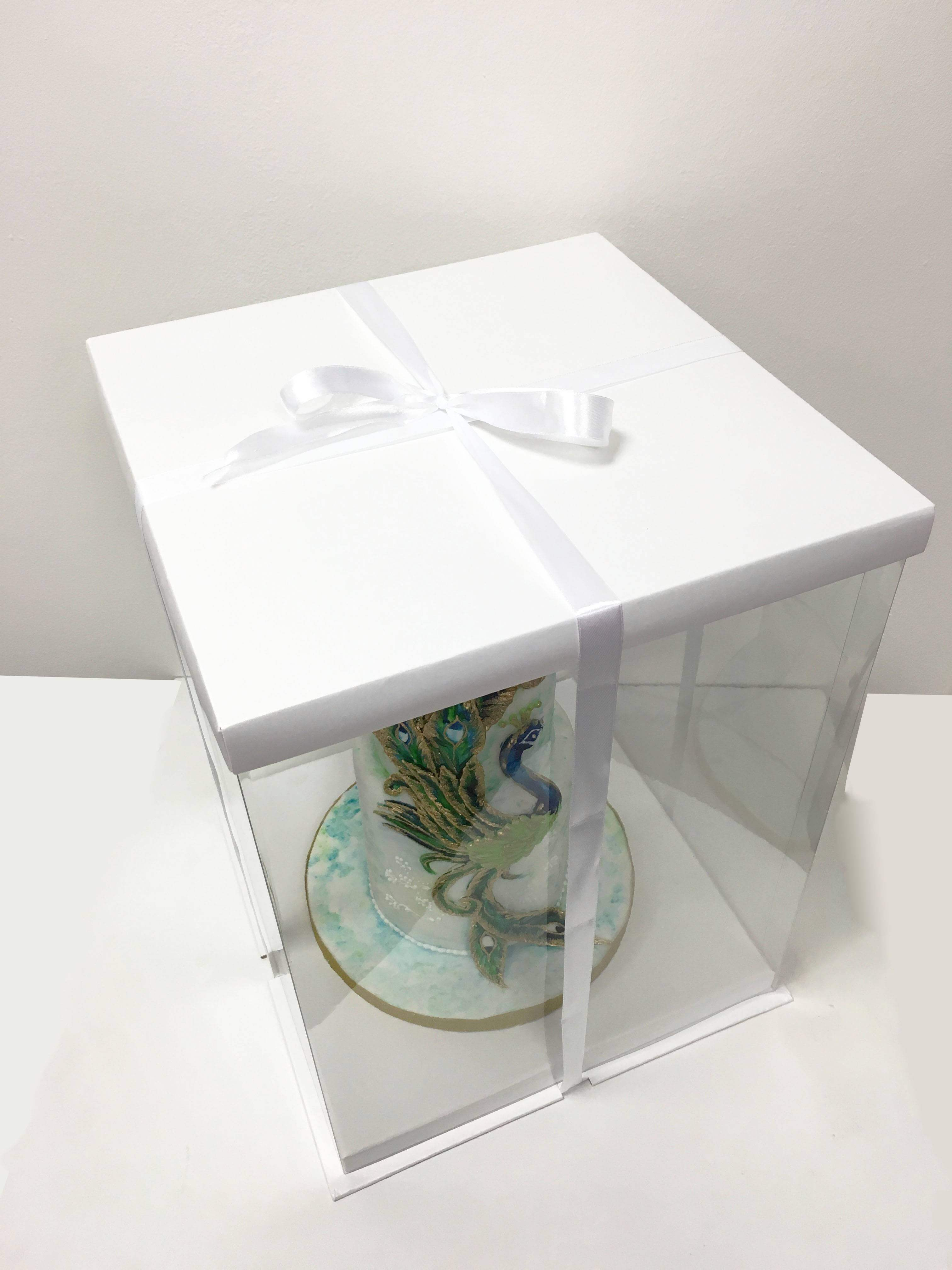 boite gateau expo cake box blanche 30x30x40cm cake design. Black Bedroom Furniture Sets. Home Design Ideas
