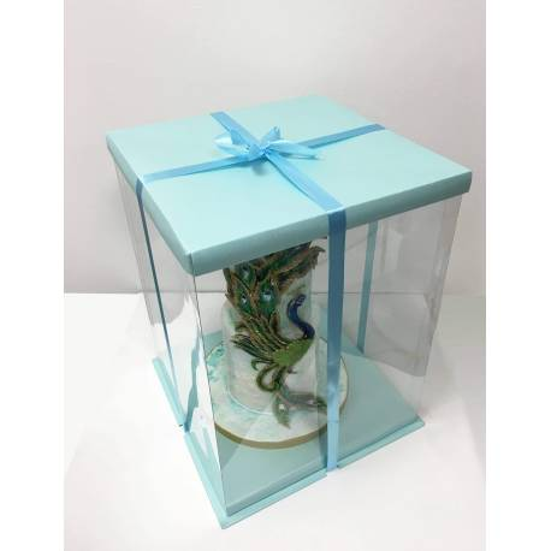 Boite à Gateau Bleu Expo Cake Box - 30x30x40cm