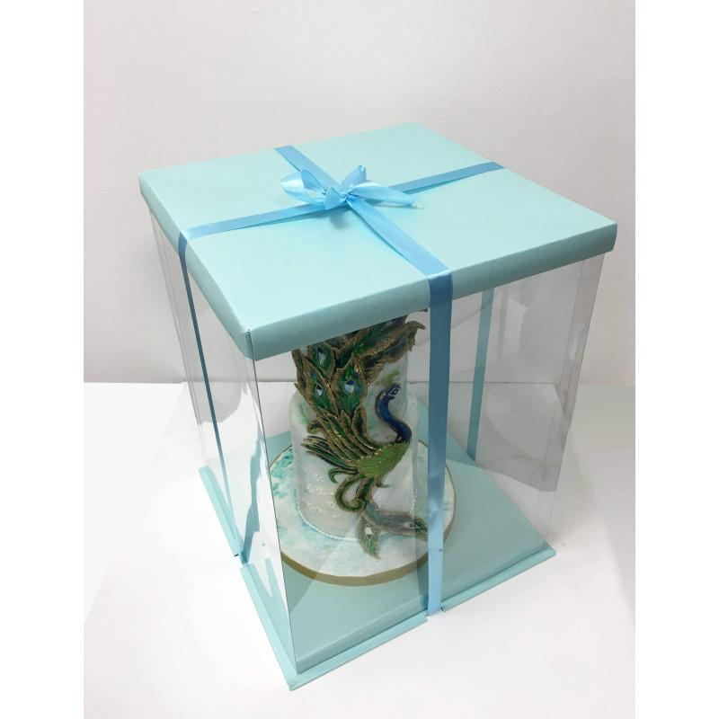 Boite à Gateau Expo Cake Box Bleue (30x30x40cm)