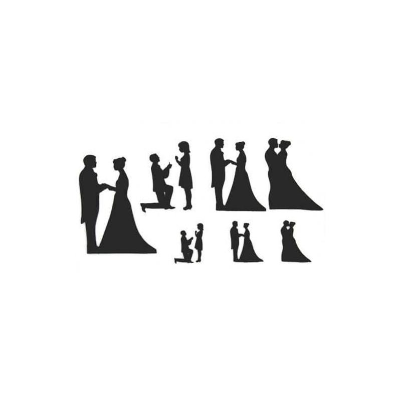 Patchwork cutter silhouettes mariage et fiançailles