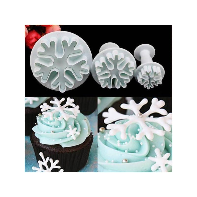Plunger cutter Snowflake (3Pcs) - MOTIF 1
