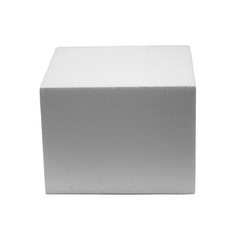 Pastel de poliestireno DUMMY cadrado 10cm, altura 10cm