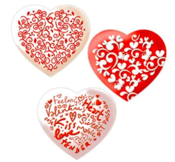 Kit de d coration de cookies en forme de coeur cake design - Deco en forme de coeur ...
