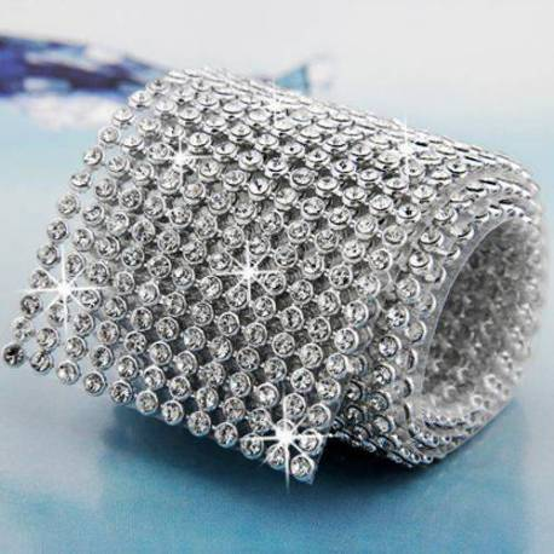 Cinta de diamantes de imitación 12cm x 1m