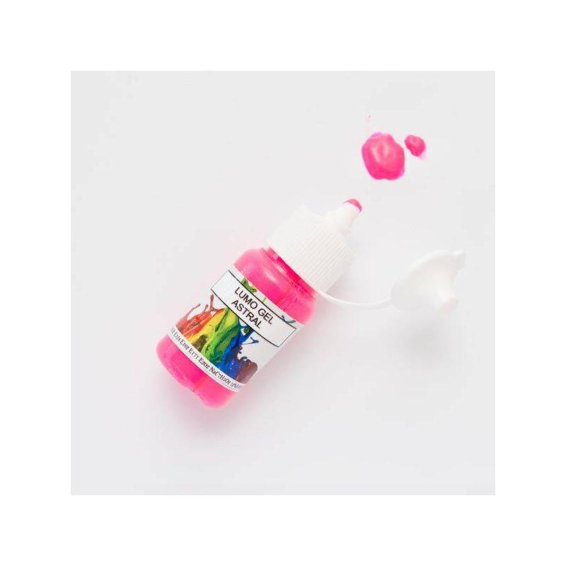 Colorant en gel fluorescent rose Rolkem 15 ml