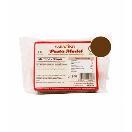 Pasta de modelar MARRON CHOCOLAT Saracino 250g