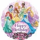 Ballon chantant d'Anniversaire PRINCESSES de Disney