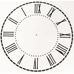Pochoir Horloge