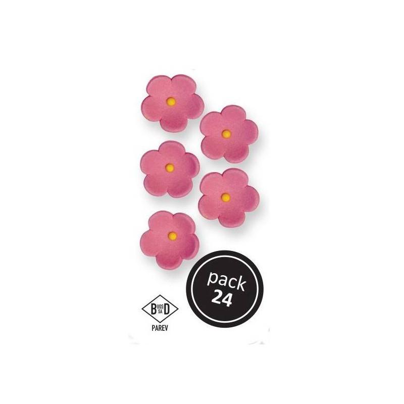 24 flores rosas grandes - 25mm