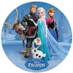 Disque azyme La reine des neiges Anna, Elsa et ses amis