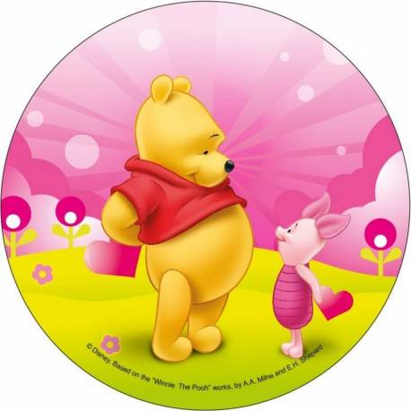 Edible wafer disc Winnie the Pooh and Piglet