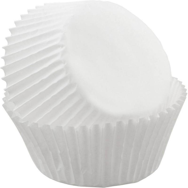 75 cápsulas de papel blanco con magdalenas Wilton