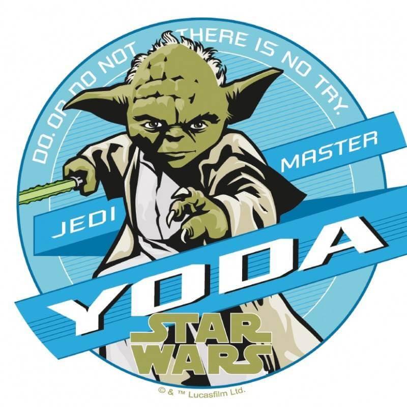 Disco en papel de oblea Star Wars Yoda