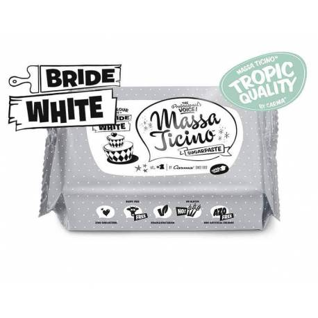 Massa Ticino Sugar Paste 250g - WHITE
