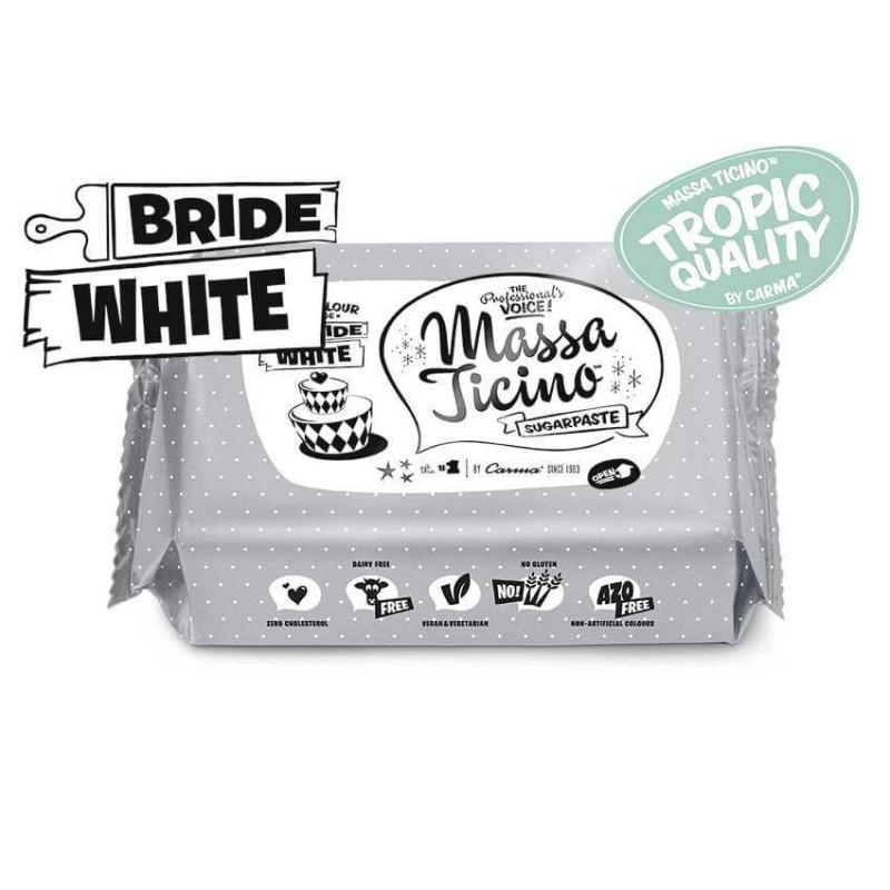 Pâte à sucre Massa Ticino 250g - BLANC