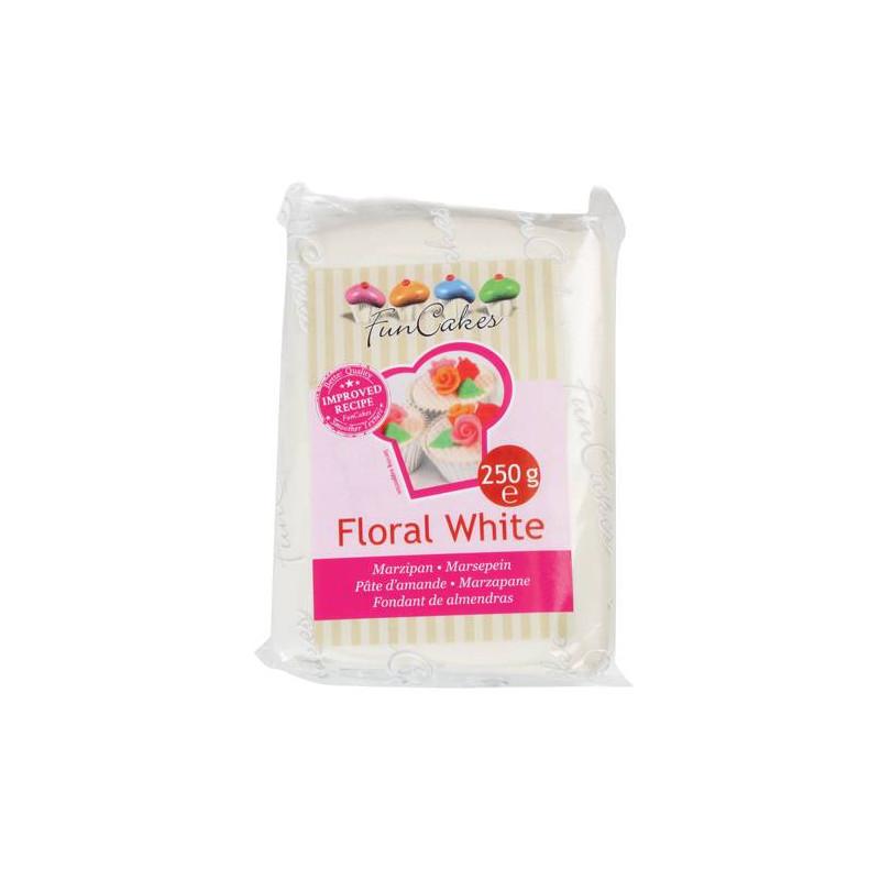 Pâte d'amande Blanc Floral 250gr