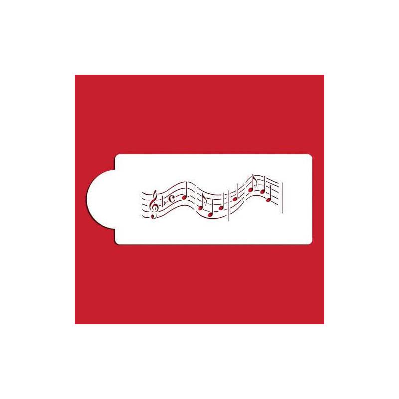 Plantilla Notas Musicales Partitura Plantilla