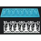 Carpet lace Christmas trees and snowflakes