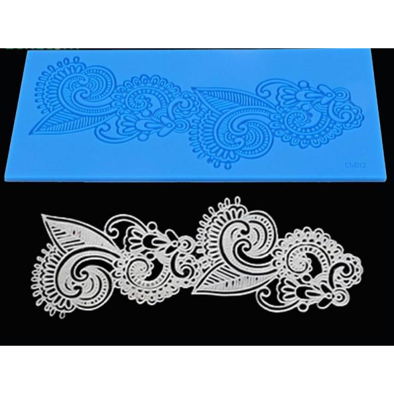 Tapete abstracta de encaje Art Nouveau