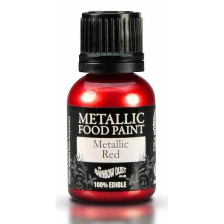 Metallic edible Paint RED colour Rainbow Dust