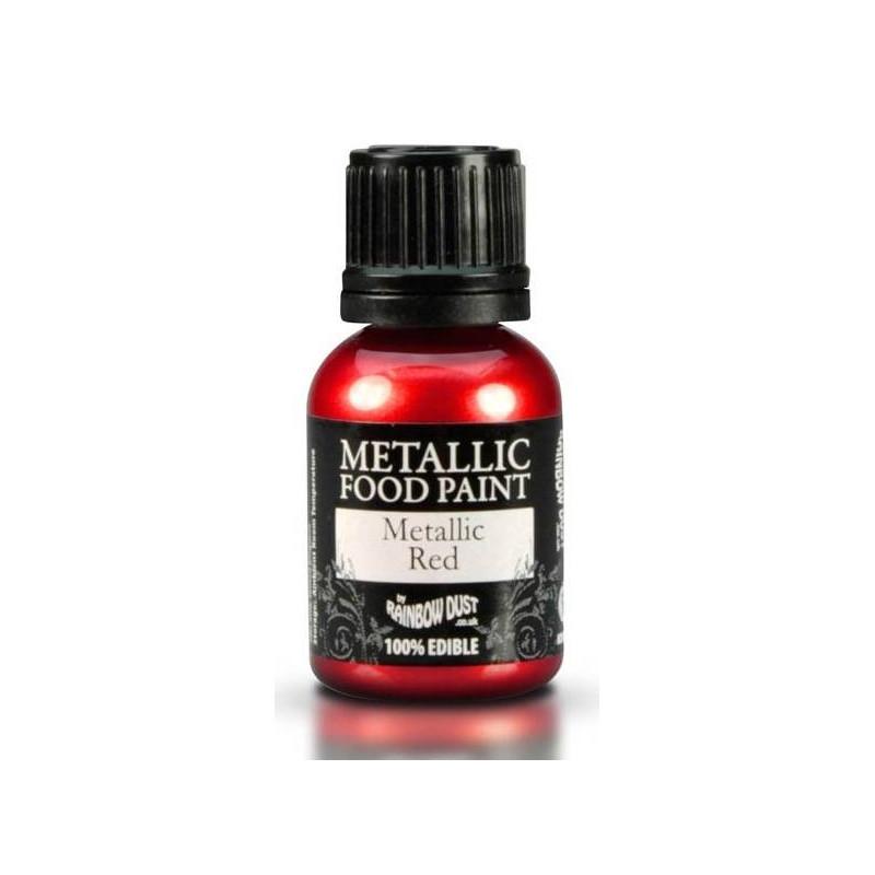 Pintura metálica de alimentos Rojo Rainbow Dust