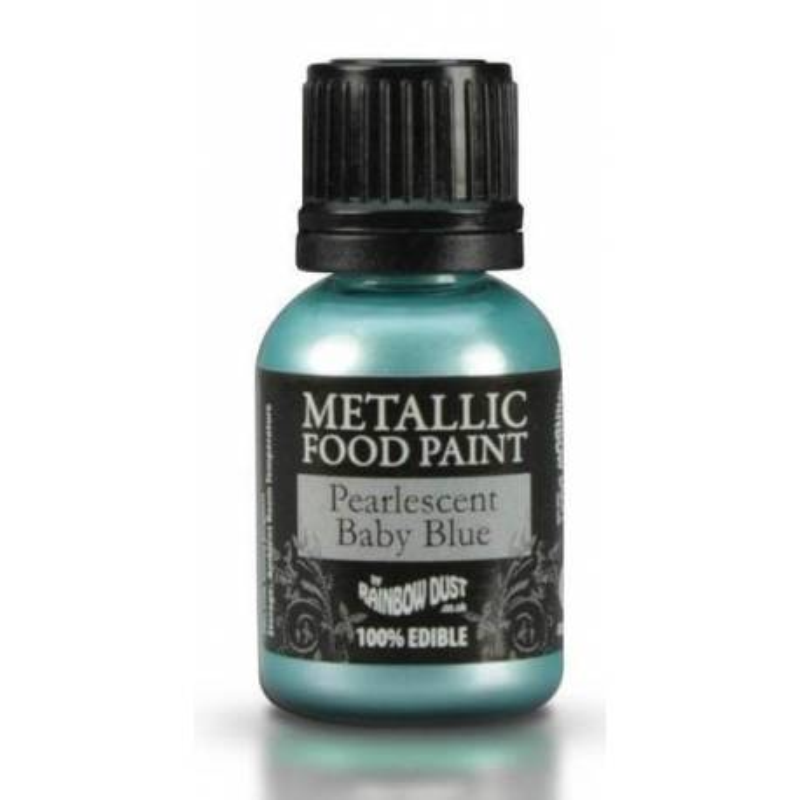 Metallic edible Paint BABY BLUE colour Rainbow Dust