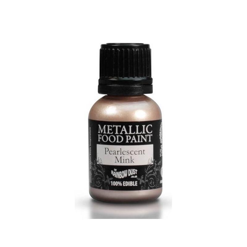 Pintura alimentaria metálica CHAMPAGNE NACRÉ Rainbow Dust