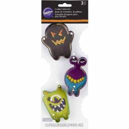 Lot of 3 cutters monsters Wilton