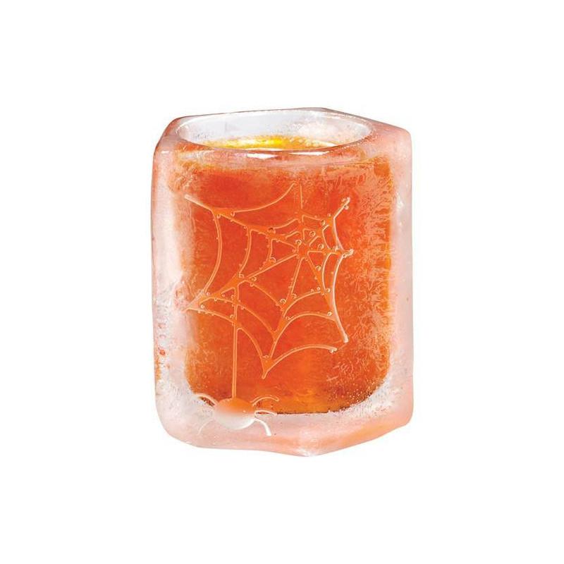 Moule silicone verre de glace motif toile d'araignée