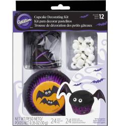 Kit Décoration Cupcakes Chauve-Souris Halloween Wilton