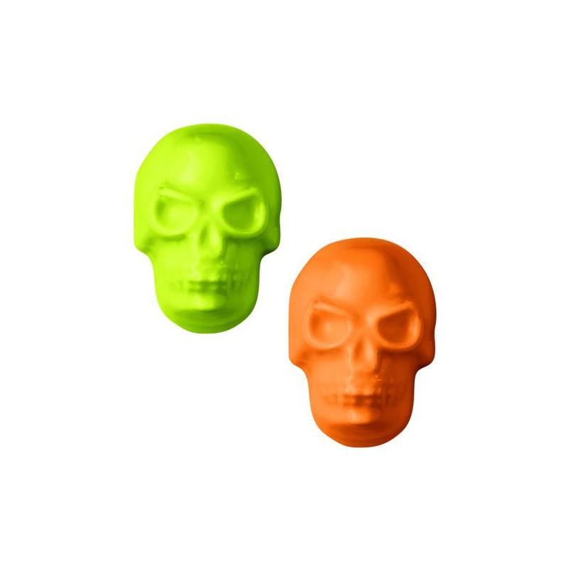 Moule chocolat Mini-Têtes de mort Halloween Wilton