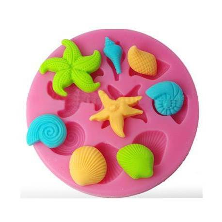 Silicone mold SHELLINGS AND SEA STARS